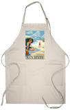 Key West, Florida - Beach Scene Apron Apron