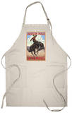Jackson Hole, Wyoming Bucking Bronco Apron Apron