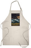 Alcatraz Island Night Scene - San Francisco, CA Apron Apron