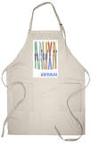 Park City, Utah, Skis in the Snow Apron Apron