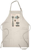 Seattle, WA, Space Needle Technical Drawing Apron Apron