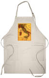 Italy - Panoramic Map Apron Apron