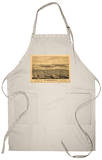 San Diego, California - Panoramic Map Apron Apron