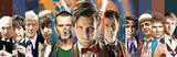 Doctor Who Doctors Collage Panorama Print