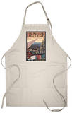 Denver, Colorado - Skyline View Apron Apron