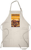 Arizona Desert Scene with Cactus Apron Apron