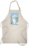 Timberline Lodge - Winter - Mt. Hood, Oregon, c.2009 Apron Apron