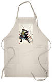 Ronin Fending off Arrows, Japanese Wood-Cut Print Apron Apron