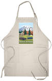 Mount Rainier, Paradise Lodge and Chalmers Apron Apron