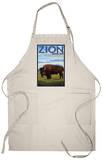 Zion National Park, UT - Bison Apron Apron