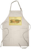 Puerto Rico - Panoramic Map Apron Apron