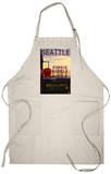 Seattle, Washington - Pike Place Market Sign and Water View Apron Apron