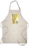 Vermont - Panoramic Map Apron Apron