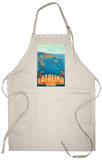 Catalina Island, California, Travel Scene Apron Apron