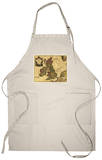 Great Britain - Panoramic Map Apron Apron