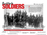 Buffalo Soldiers - Black History Pioneer Biographical Timeline Art Poster