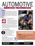 Automotive Service Technician - Educational Poster Prints