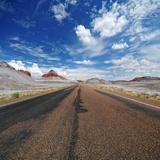 Route déserte Photographie par Philippe Sainte-Laudy