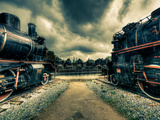 Steam Train II Photographic Print by Nejdet Duzen