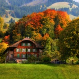 Swiss Chalet Photographic Print by Philippe Sainte-Laudy