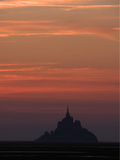 Mont Saint Michel at Night Photographic Print by Philippe Manguin