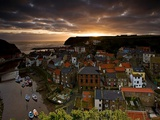 Dawn over Staithes Photographic Print by Doug Chinnery