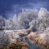 Philippe Sainte-Laudy - Zimní potůček Fotografická reprodukce