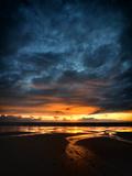 Vendee Sunrise Fotografisk trykk av Philippe Manguin