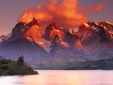 Fiery Peaks Photographic Print by Art Wolfe