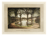 Flower garden, Valley-Field Giclee Print by Humphry Repton