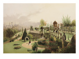 A View in the Gardens at Alton Towers - The Seat of the late the Right Honourable Earl of Shrewsbur Giclee Print
