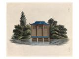 Oriental boat house Reproduction procédé giclée par Johann Gottfried Grohmann