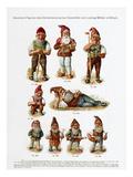 Gnomen-Figuren des Gartentechnischen Geschäfts von Ludwig Müller in Erfurt Giclee Print by Karl Götze