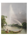 The Great Fountain, Enville Gardens, The Seat of the Right Honourable The Earl of Stamford and Warr Giclee Print