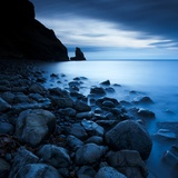 Talisker Bay under a Winter Moon Photographic Print by Doug Chinnery