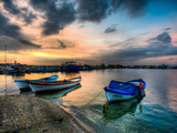 Boats at Sunset 1 Photographic Print by Nejdet Duzen