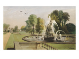 St. George and the Dragon Fountain, Holkham. The Seat of the Right Honourable Earl of Leicester Giclee Print