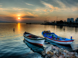 Boats at Sunset 2 Photographic Print by Nejdet Duzen