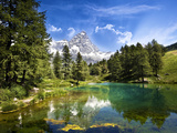 Blue Lake Photographic Print by Marco Carmassi