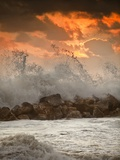 Foamy Sunset Photographic Print by Marco Carmassi
