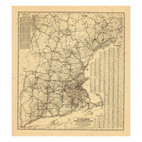 1909, New England, Connecticut, Maine, Massachusetts, New Hampshire Giclee Print