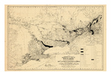1876, Oxford County Map - Geological, Canada Giclee Print