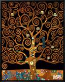 Under the Tree of Life Oprawiona reprodukcja na płótnie autor Gustav Klimt