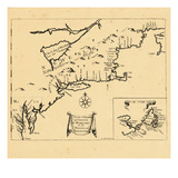 1674, Connecticut, Maine, Maryland, Massachusetts, New Hampshire, New York, Rhode Island, Vermont Giclee Print