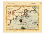1598-99, Florida, Newfoundland and Labrador, Virginia, Massachusetts, Nova Scotia Giclee Print