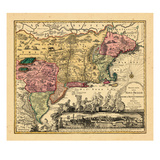 1762, Connecticut, Maine, Massachusetts, New Hampshire, New Jersey, New York, Rhode Island, Vermont Giclee Print