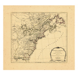 1775, United States, Newfoundland and Labrador, Nova Scotia Giclee Print
