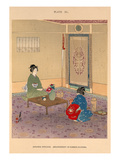 Japanese interior. Arrangement of summer Flowers Giclee Print by Josiah Conder