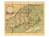 1775, Nova Scotia, Prince Edward Island, Maine Massachusetts Giclee Print