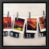From NY To SF Framed Canvas Transfer von Vincent Gachaga